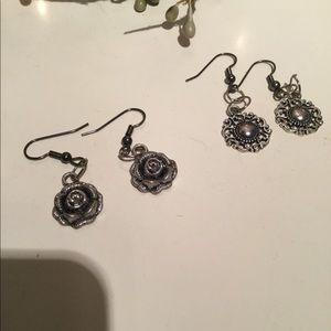 Day of 2 cute homemade earrings.